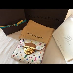 Louis Vuitton Multicolored Trifold Wallet